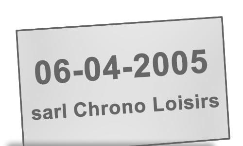 Création de Chrono Loisirs